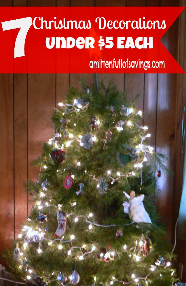 7 Christmas Decorations Under $5