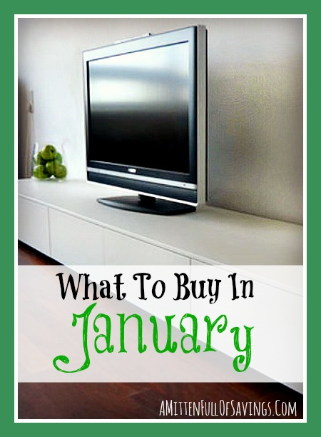 what to buy in january, shopping sale cycles