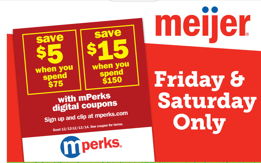 Meijer 2 Day Sale This Weekend 12/12-12/13