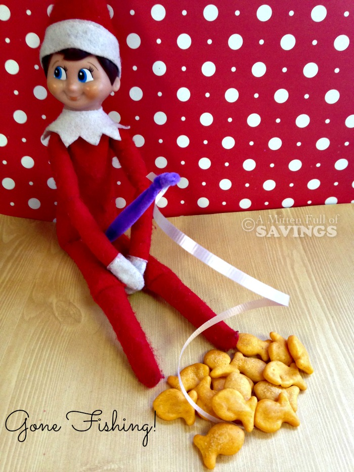 Easy Elf on the Shelf Idea- Elf on the Shelf- Gone Fishing