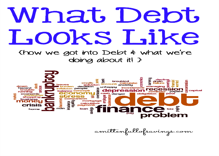 What Debt Looks Like: Read about how we got into Debt and what we're doing about it in this Debt Relief Series