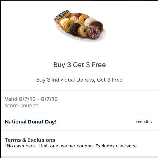 free donuts at Meijer mPerk
