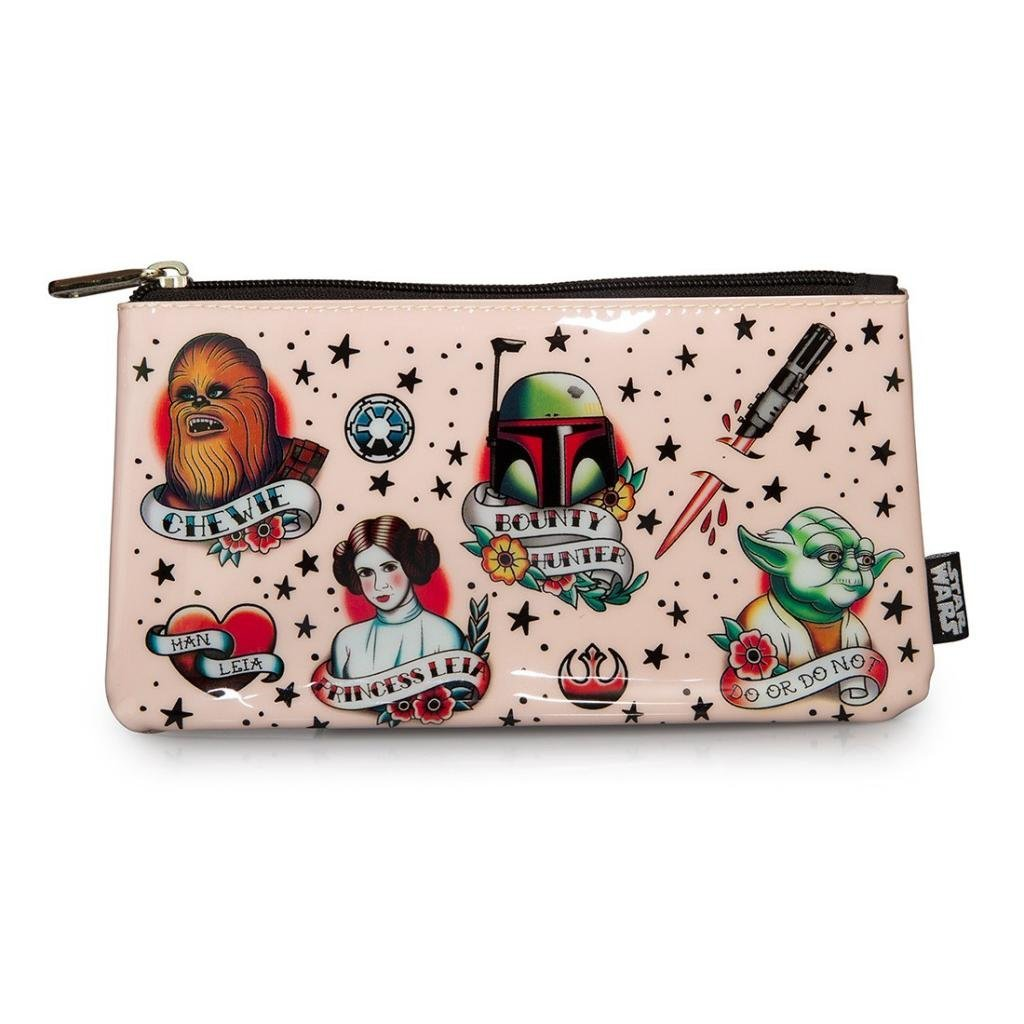Loungefly Star Wars Tattoo Flash Print Cosmetic Bag/Pencil Pouch