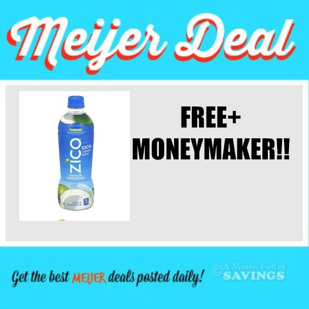 Meijer Free Moneymaker On Zico Coconut Water