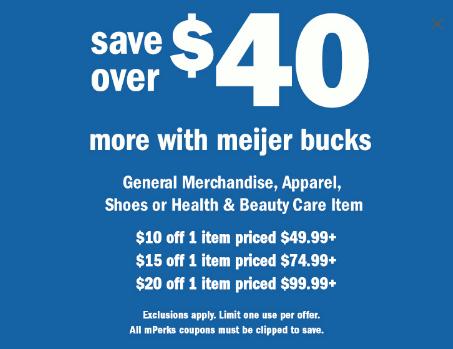 Meijer Summer Bucks This Weekend
