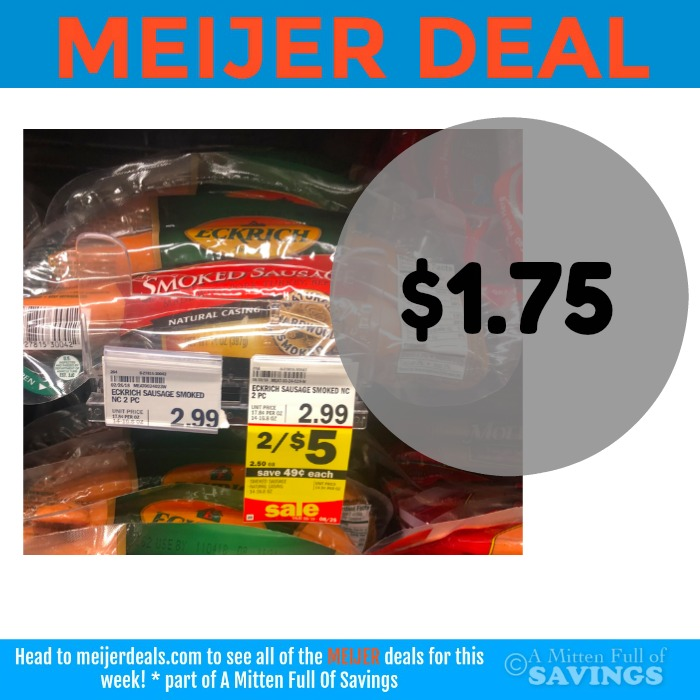 Eckrich Smoked Sausage deal at Meijer