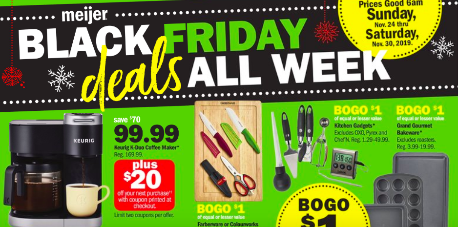 The Week Before Meijer Black Friday Sale 11/19-11/25