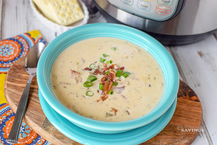 I'm not a clam chowder fan, but my husband is, and he said this is really good! And it has BACON which he actually noticed!  Making our Instant Pot Clam Chowder Recipe will become a new favorite meal you love.  It's simple, flavorful, and being made in the Instant Pot means it will be fast!