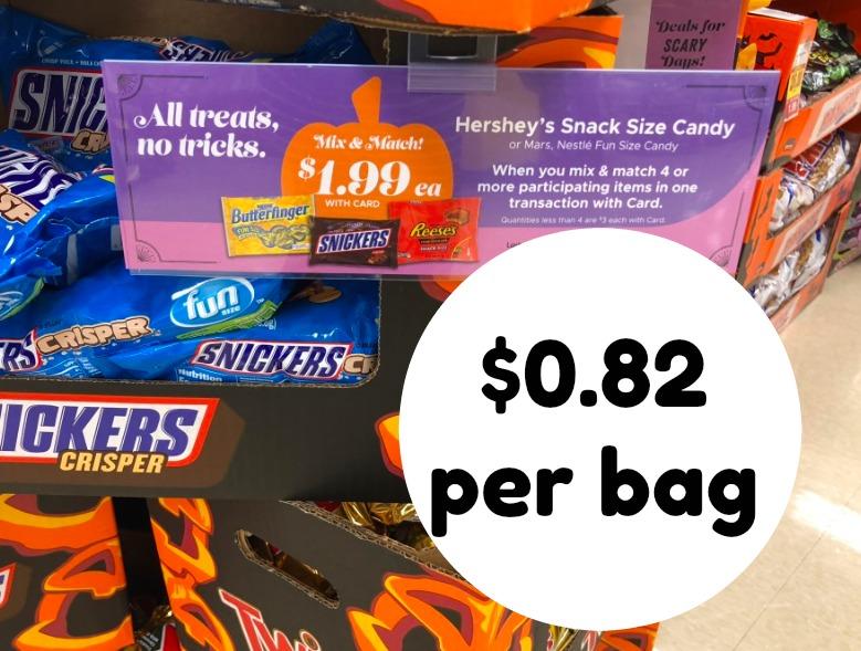 Grab Halloween Candy at Kroger - $0.82 per bag!