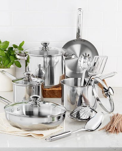 13-Piece Cookware Set $26.60 (Stainless Steel or Nonstick)