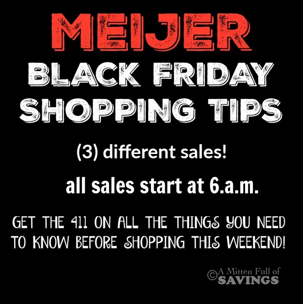 Best Meijer Black Friday Tips