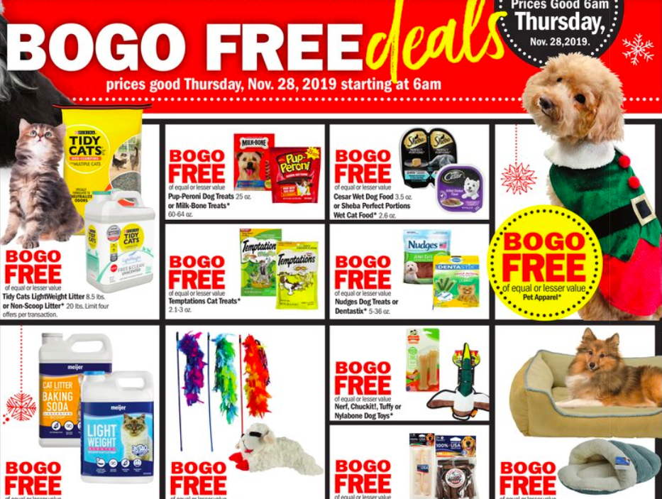 Meijer Pet Deals On Thanksgiving Day Only