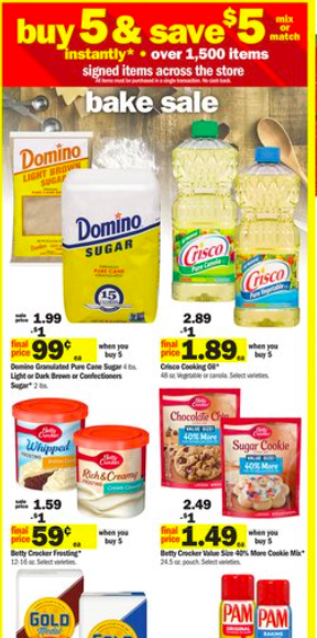 Meijer Bake Sale- Buy 5, Save $5 Instantly {3 Day Weekend Sale}