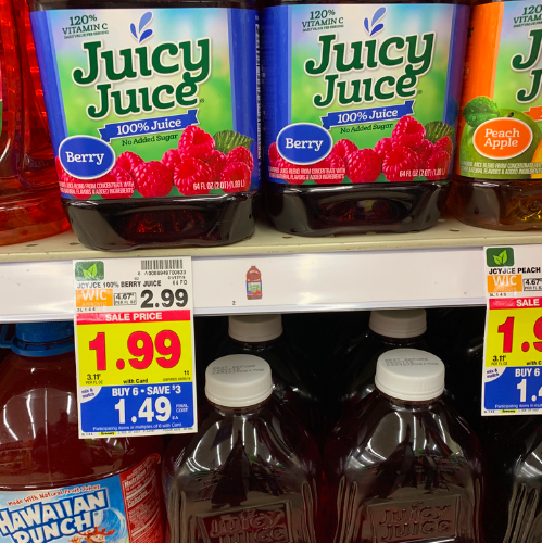 Juicy Juice deal at Kroger