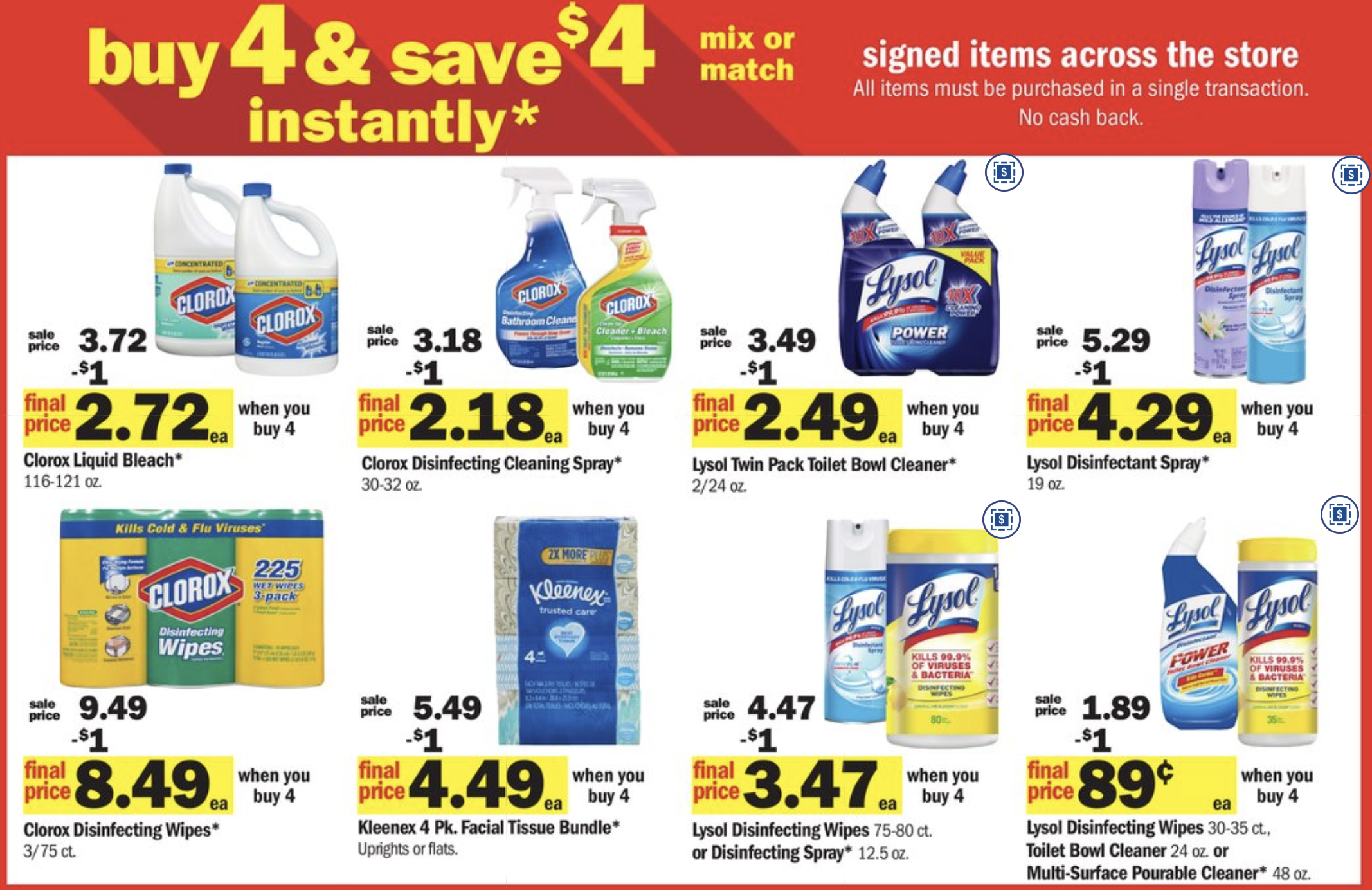 Meijer: Buy 4, Save $4 instantly Household Essentials