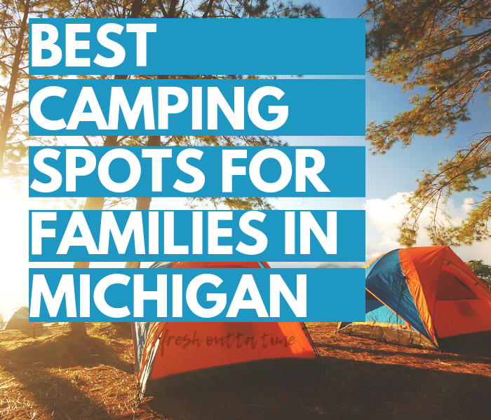 The mitten state is a great state to go camping in with your family, and we're sharing a list of the best camping spots for families in Michigan! From Sleeping Bear Dunes to Pictured Rocks, we're sharing a round-up of the great camping spots to check out with your family this summer!