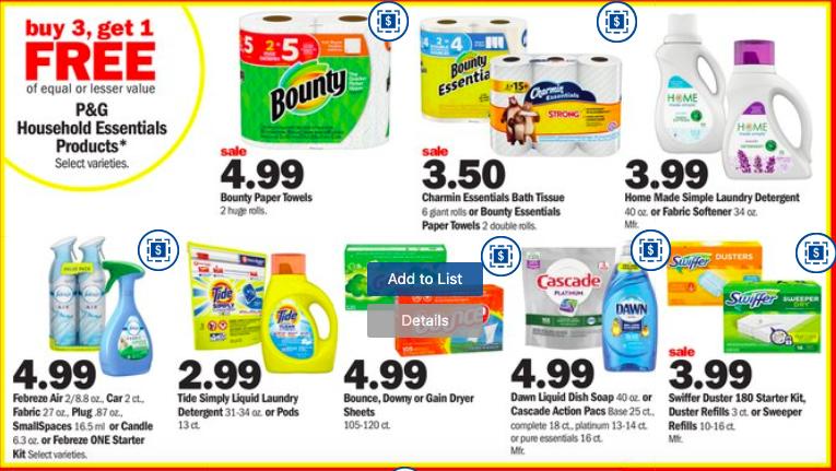 Detergent deals at Meijer