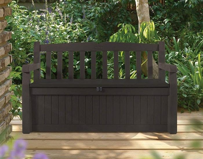 Incredible Amazon Deal Keter Eden 70 Gallon Storage Bench Deck Box Creativecarmelina Interior Chair Design Creativecarmelinacom