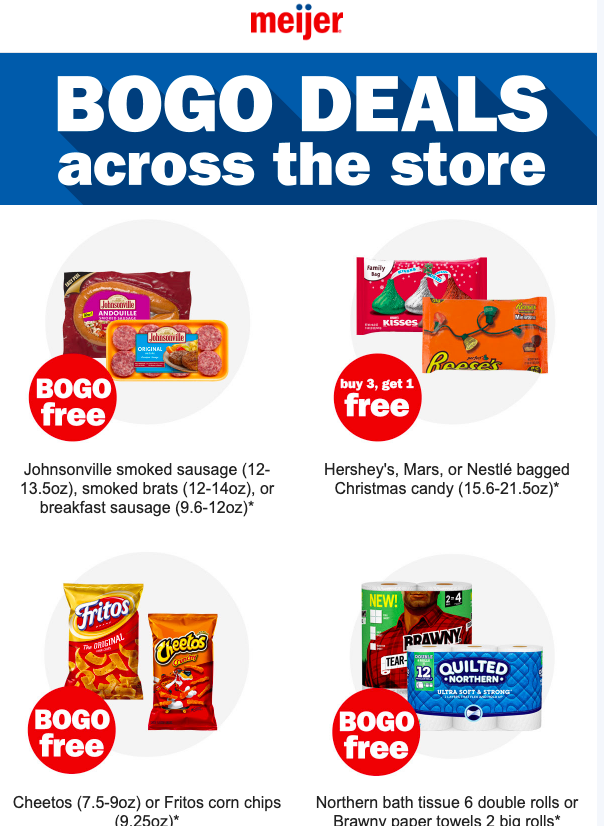 Meijer 3-Day Sale 11/7-11/9