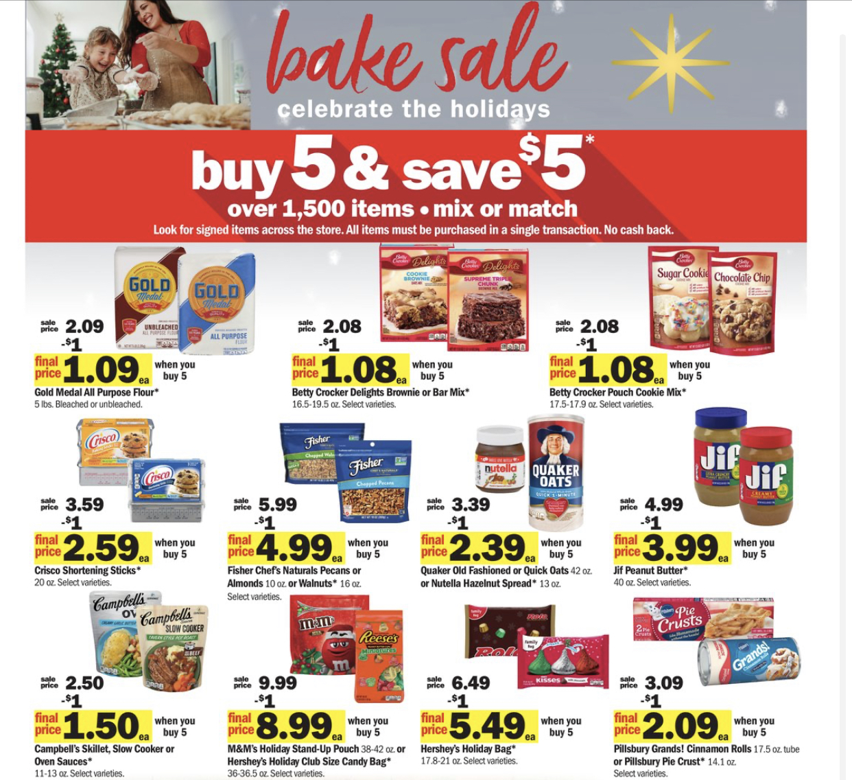 Meijer Bake Sale- Buy 5, Save $5 Instantly 11/29-12/5/2020